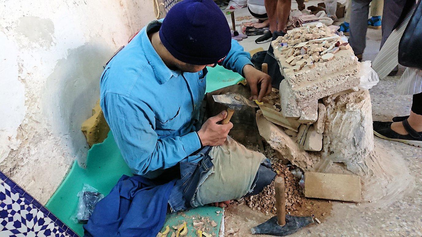 フェズの陶器工場にて8
