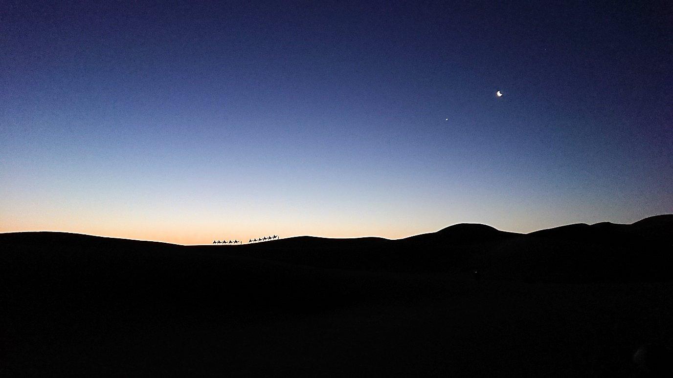 サハラ砂漠で星空観賞しに歩く様子7