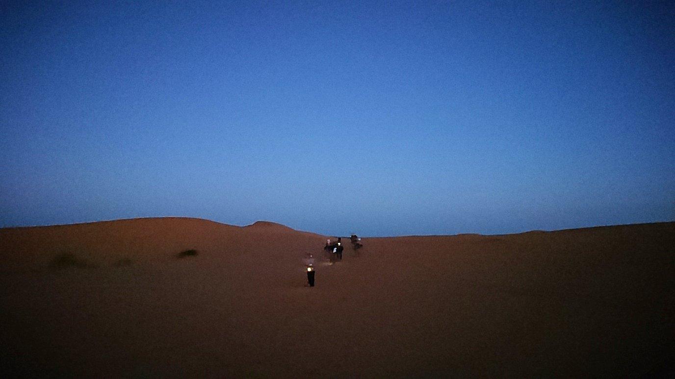 サハラ砂漠で星空観賞しに歩く様子8