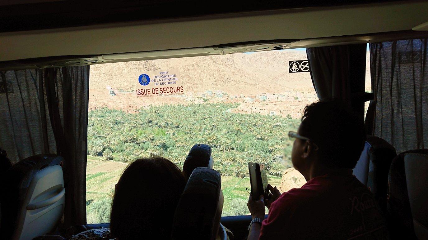 モロッコのトドラ渓谷に向かう途中に見えた景色