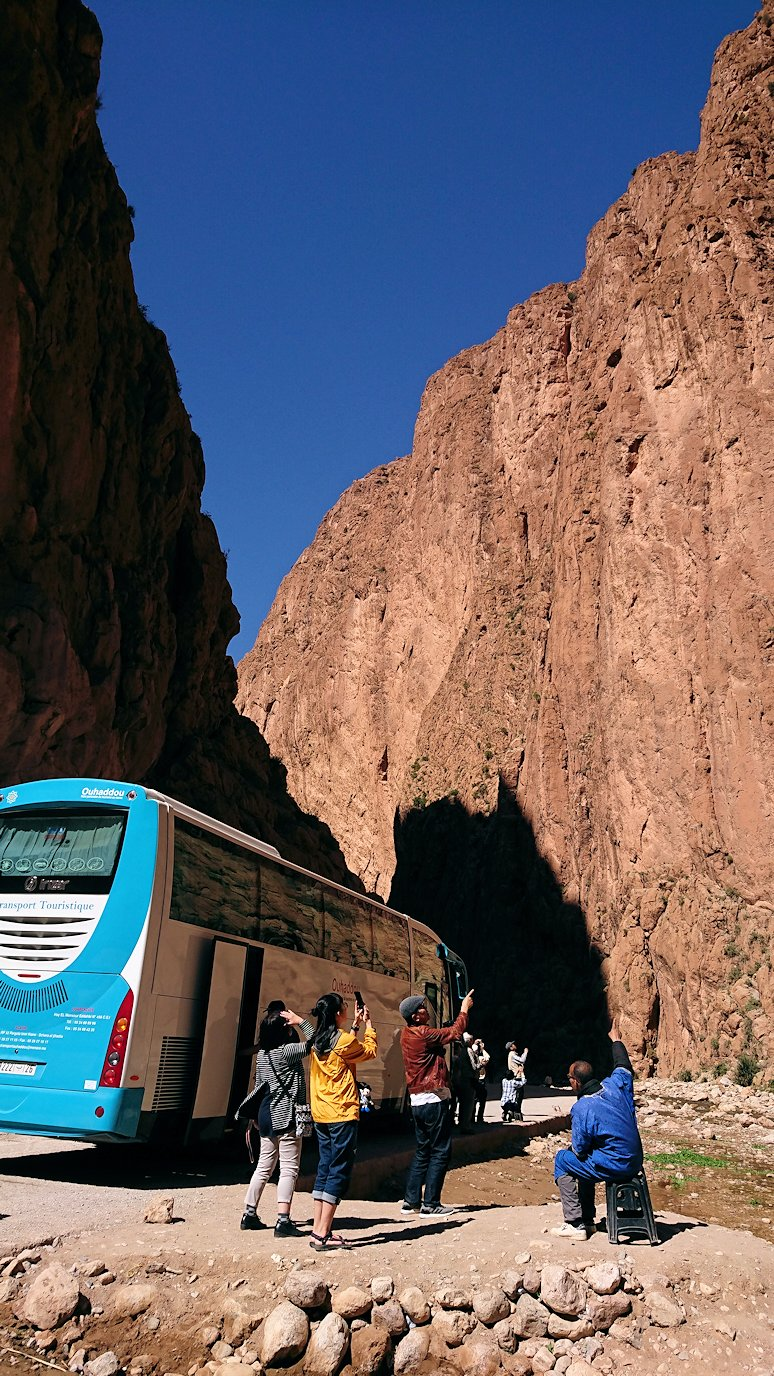 モロッコのトドラ渓谷に到着3