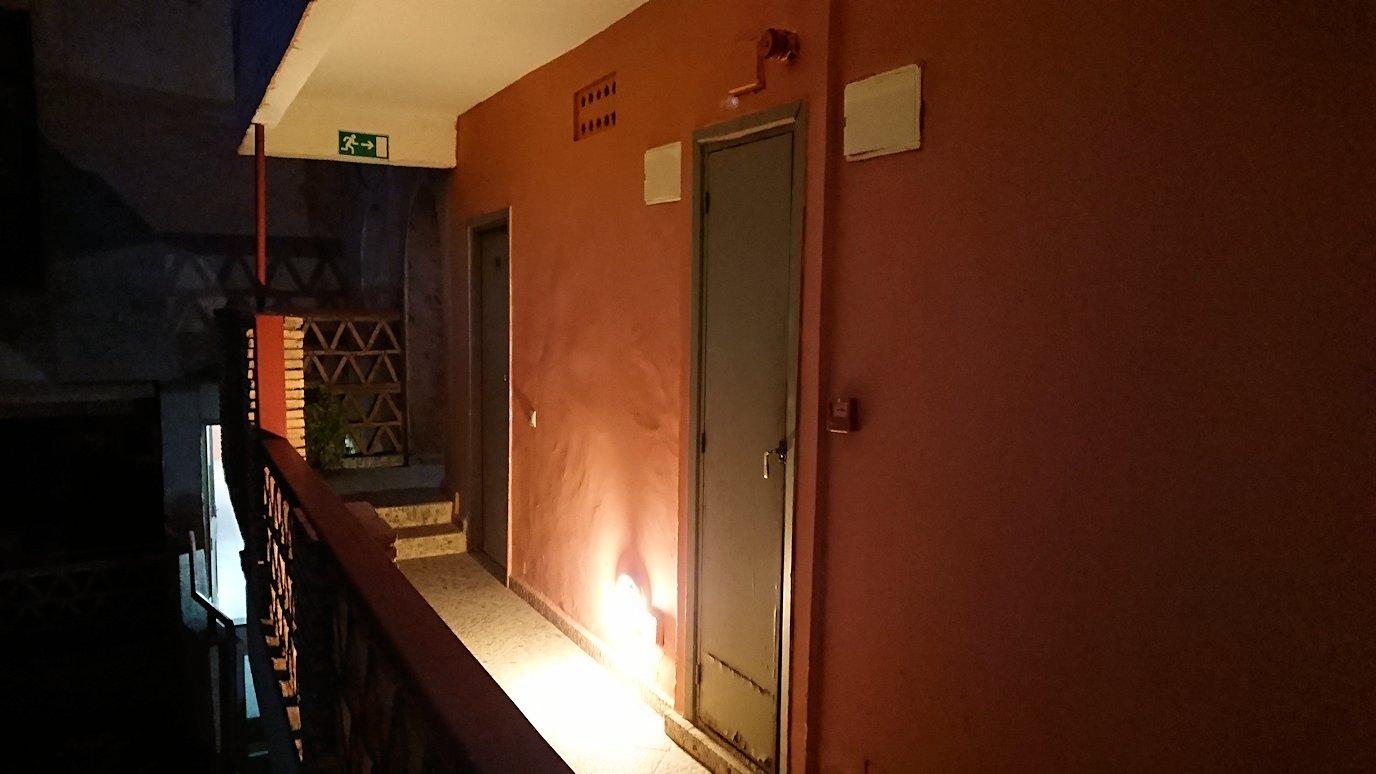 モロッコのワルザザートのホテルの部屋の様子2