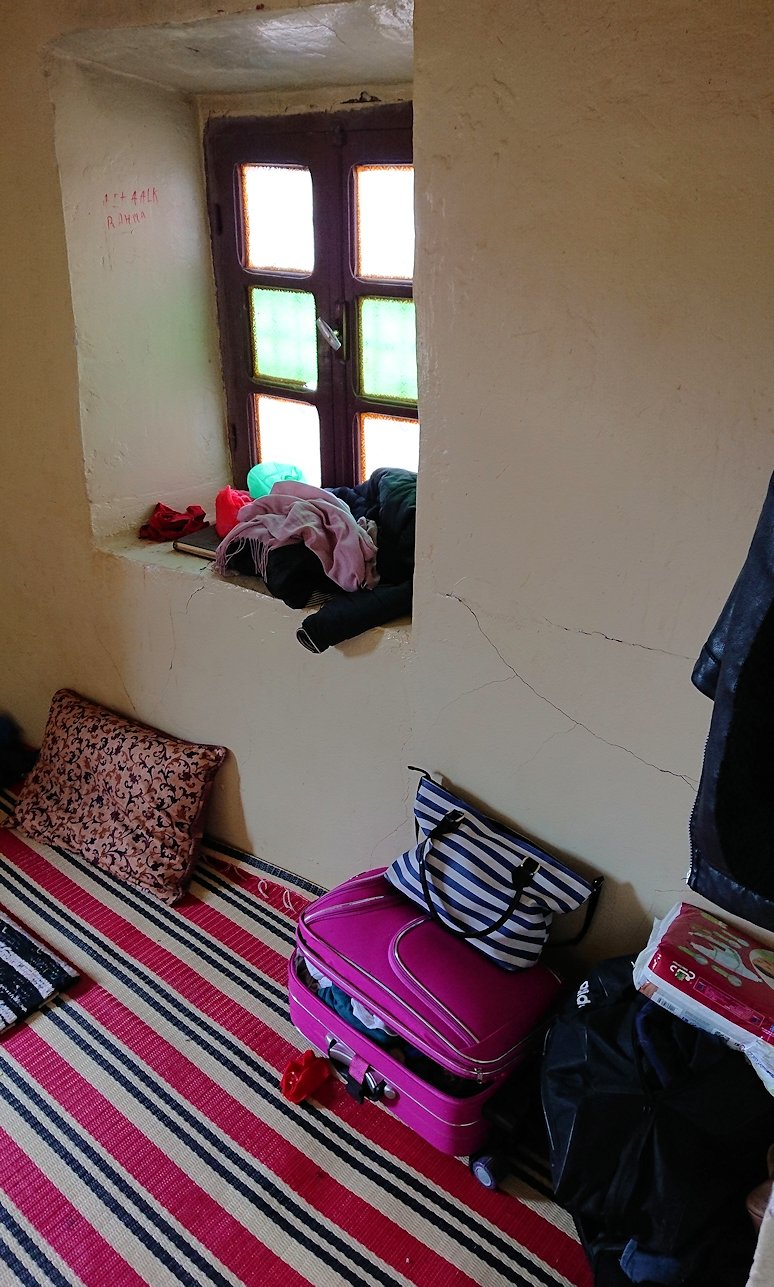 モロッコのワルザザートのアイト・ベン・ハッドゥで個人宅内の様子2