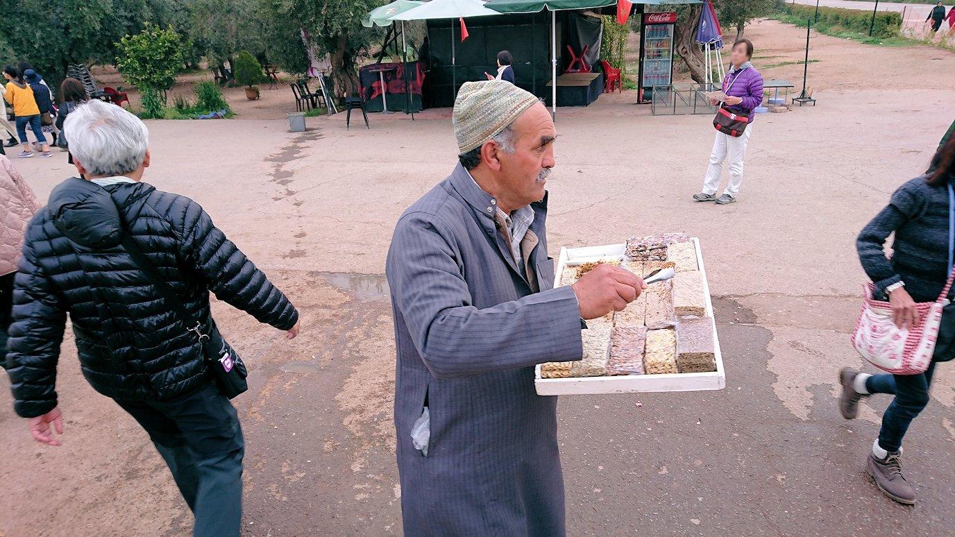 マラケシュのメナラ庭園に入って観光を5