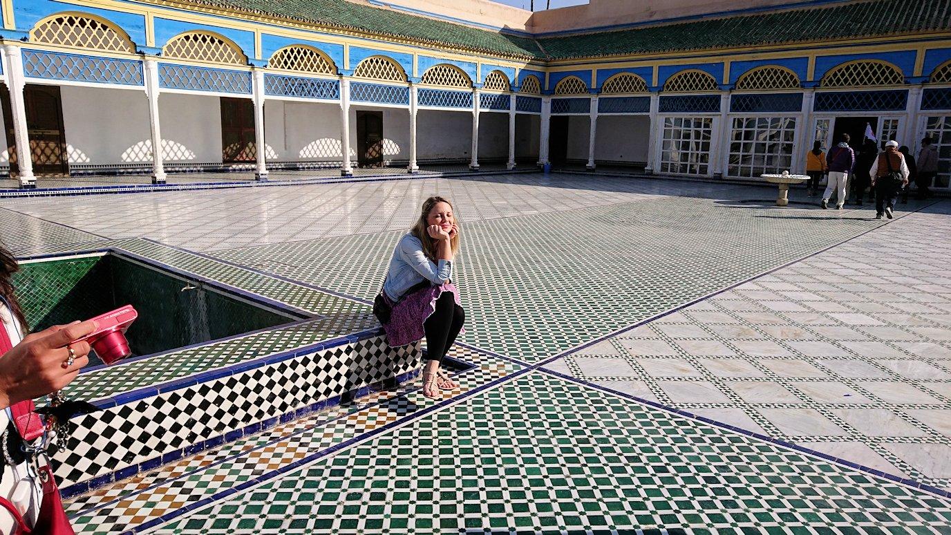 モロッコのマラケシュでバヒア宮殿内の様子はというと1