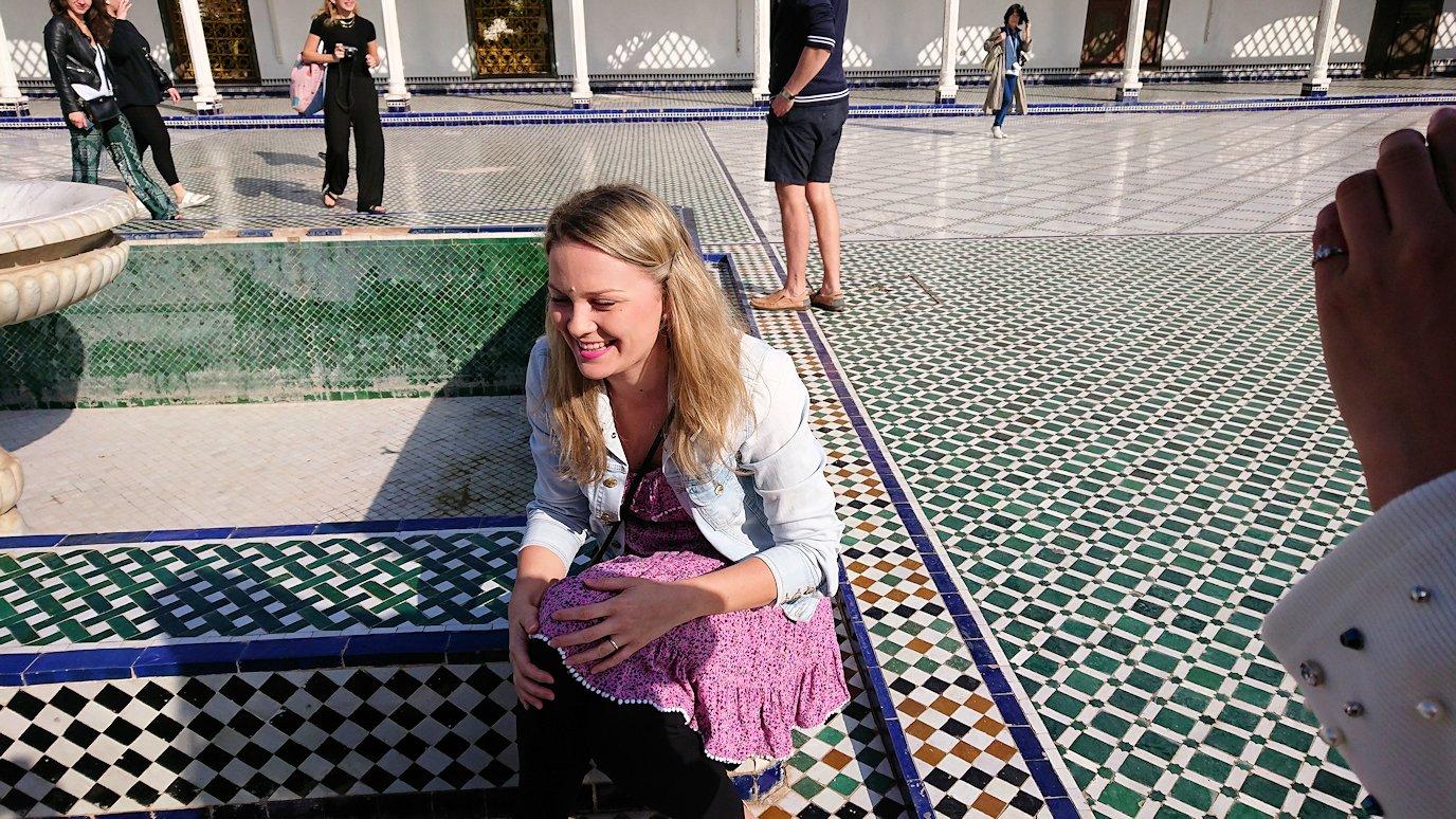 モロッコのマラケシュでバヒア宮殿内の様子はというと2