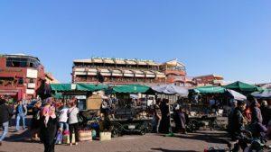 モロッコ・マラケシュでジャマ・エル・フナ広場辺りの様子2