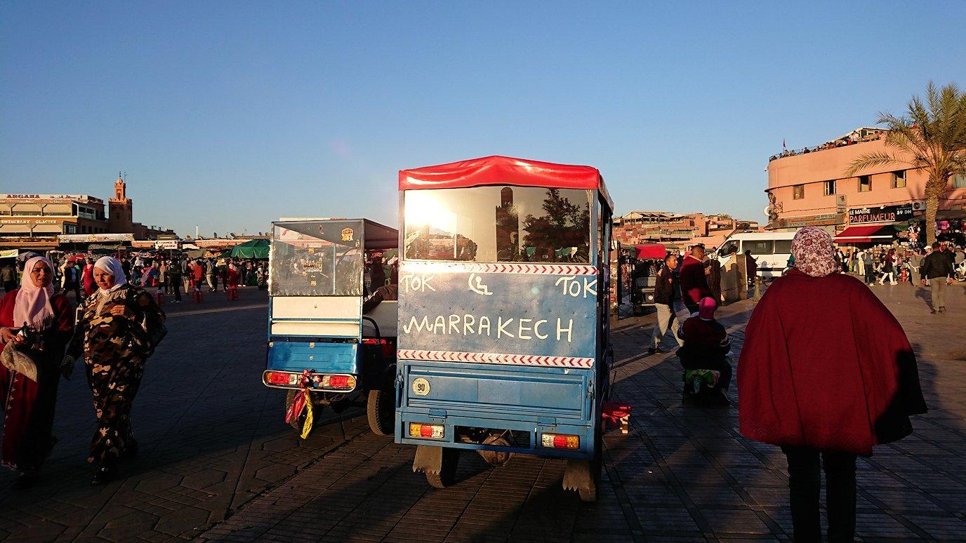 モロッコ・マラケシュでジャマ・エル・フナ広場でブラたもり?!1