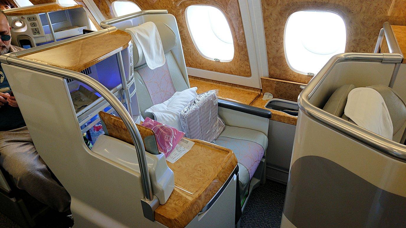 モロッコのカサブランカ空港でA380-800のビジネスクラスに搭乗5