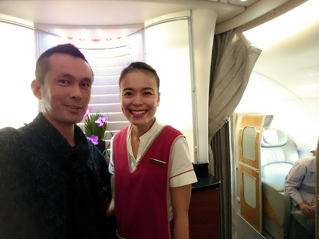モロッコのカサブランカ空港でA380-800のビジネスクラスに搭乗8
