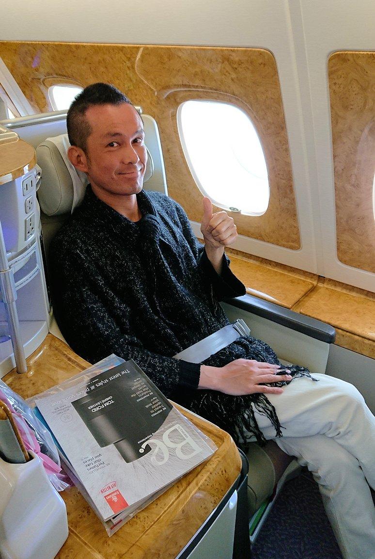 モロッコのカサブランカ空港でA380-800のビジネスクラスに搭乗9