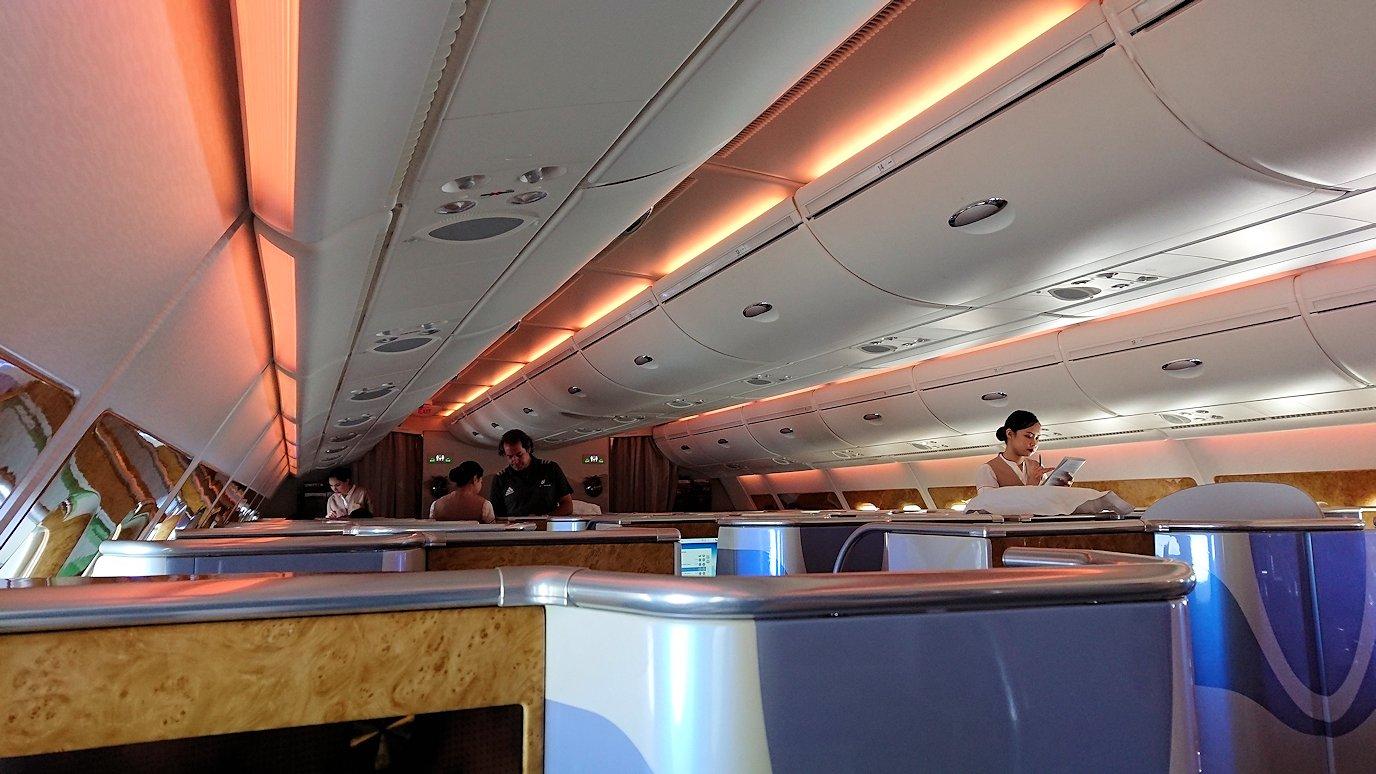 モロッコのカサブランカ空港でA380-800のビジネスクラスに搭乗しドバイへ向かう3