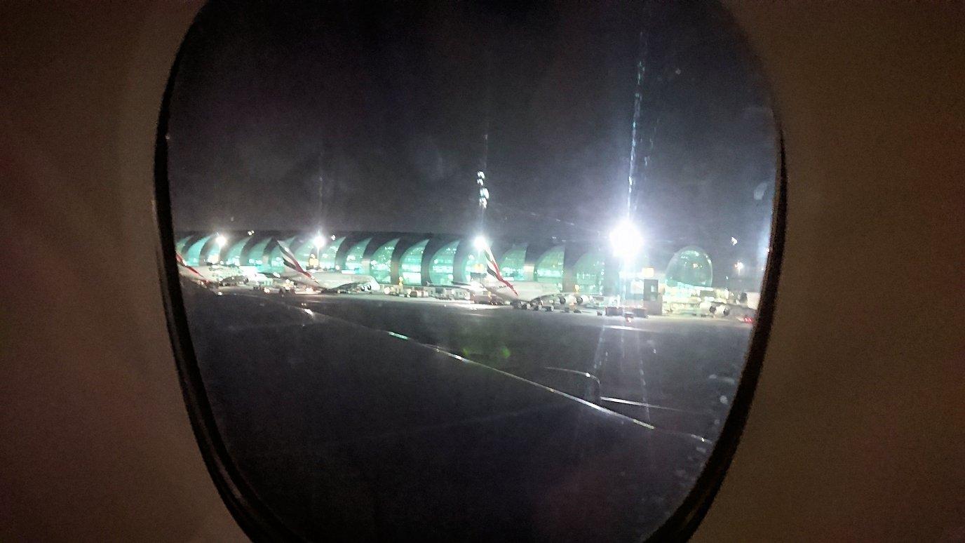 モロッコのカサブランカ空港でA380-800のビジネスクラスに搭乗しドバイへ向かうビジネスクラスの機内を楽しむ8