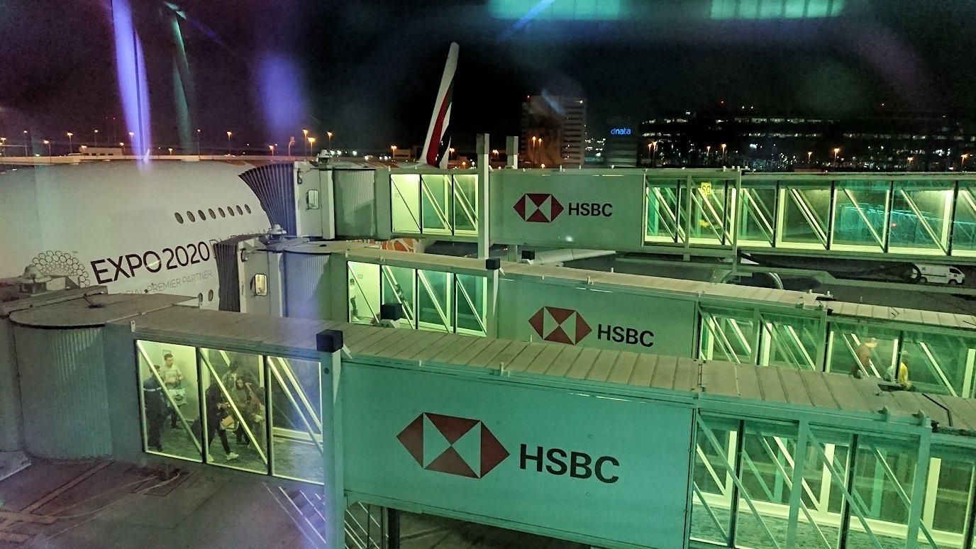 モロッコのカサブランカ空港でA380-800のビジネスクラスに搭乗しドバイ空港に無事到着!4