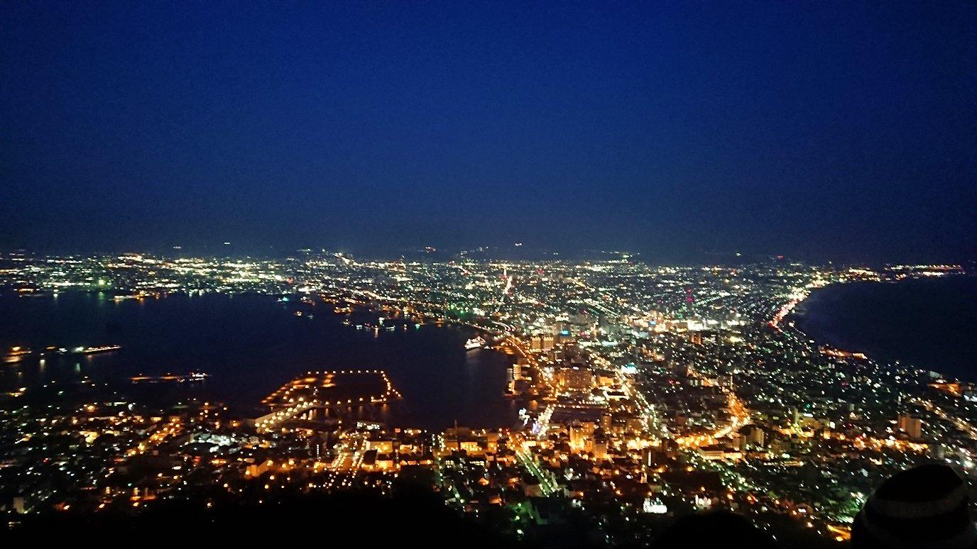 函館市内の函館山の頂上で陽が沈む4