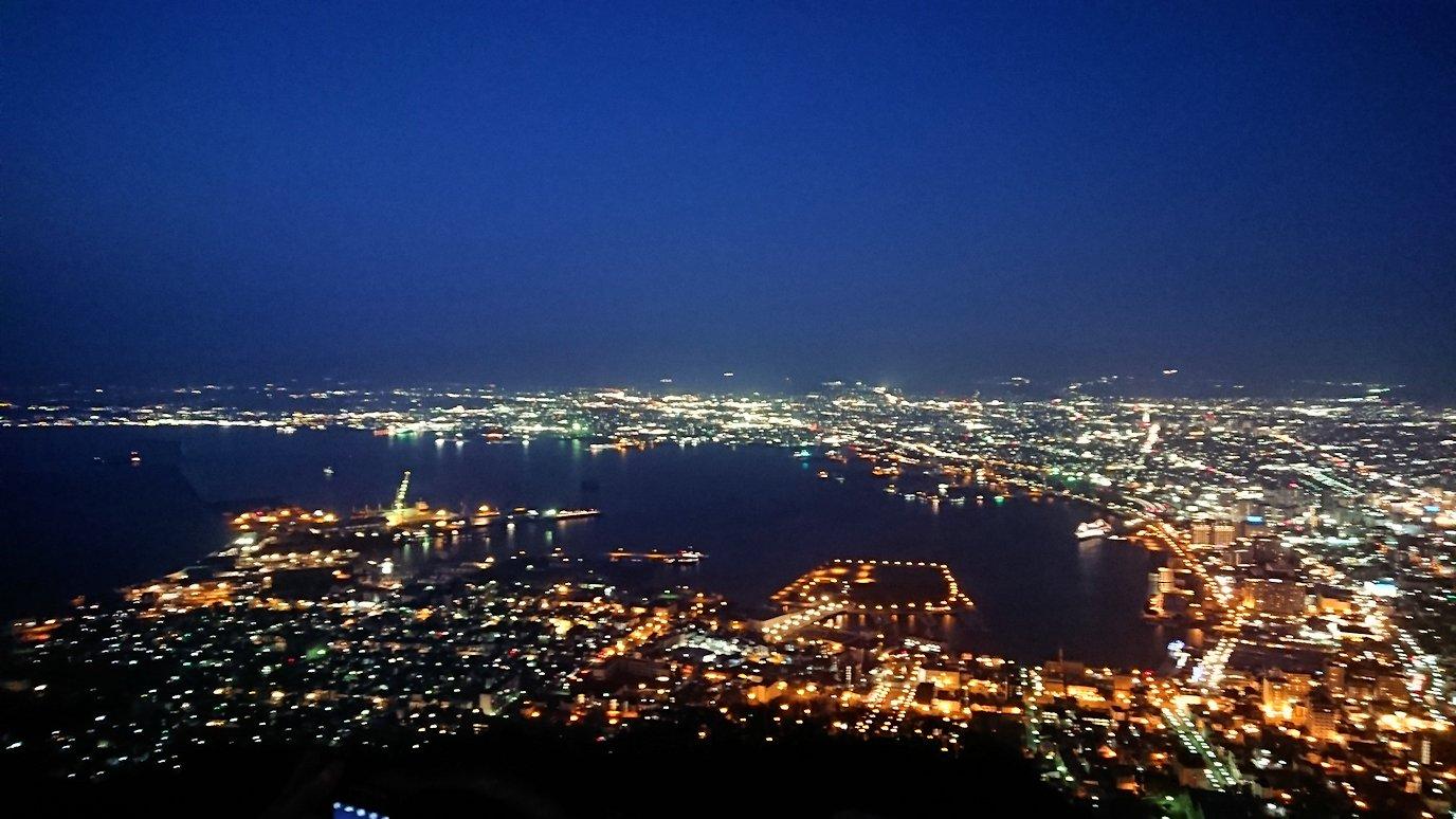 函館市内の函館山の頂上で陽が沈む5