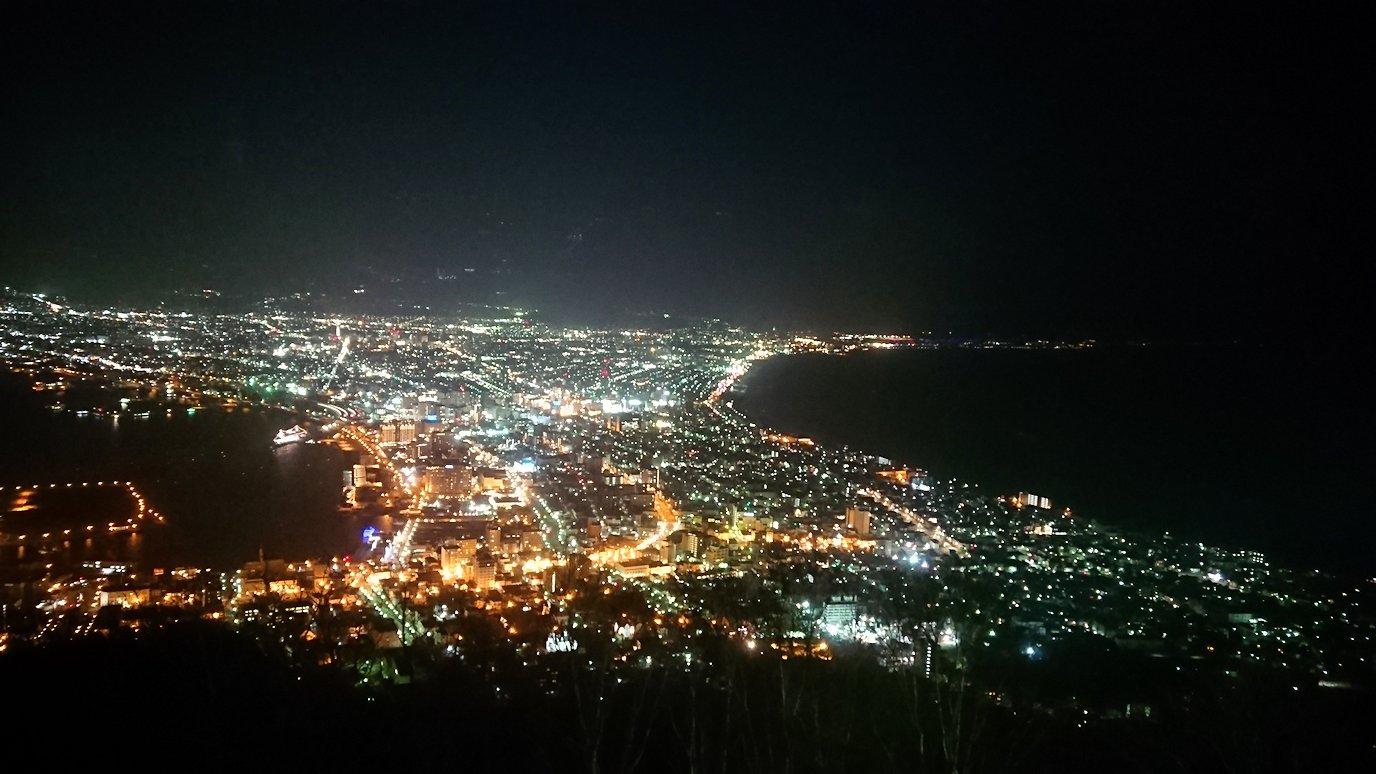 函館市内の函館山の頂上で陽が沈む8