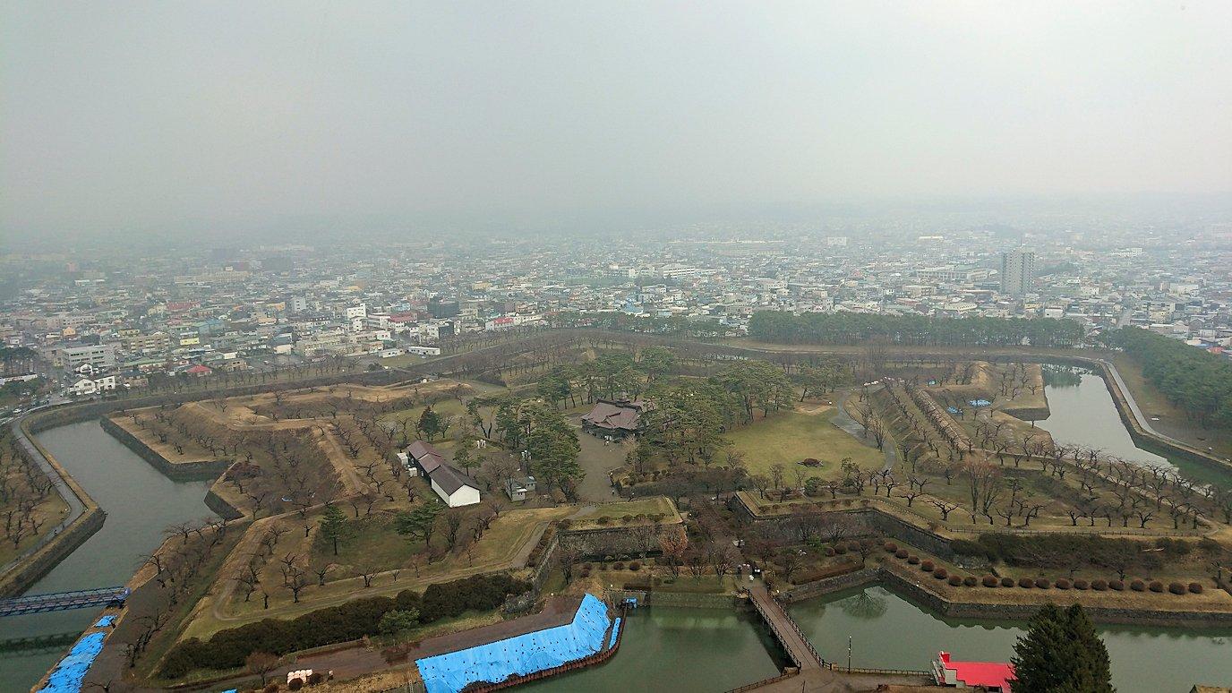 函館2日目は五稜郭タワーに登り景色を楽しむ4