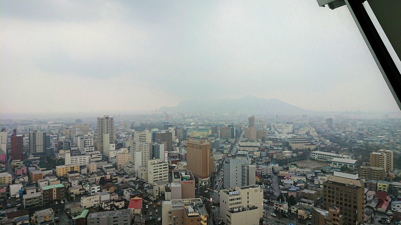 函館2日目は五稜郭タワーの展望台の景色1