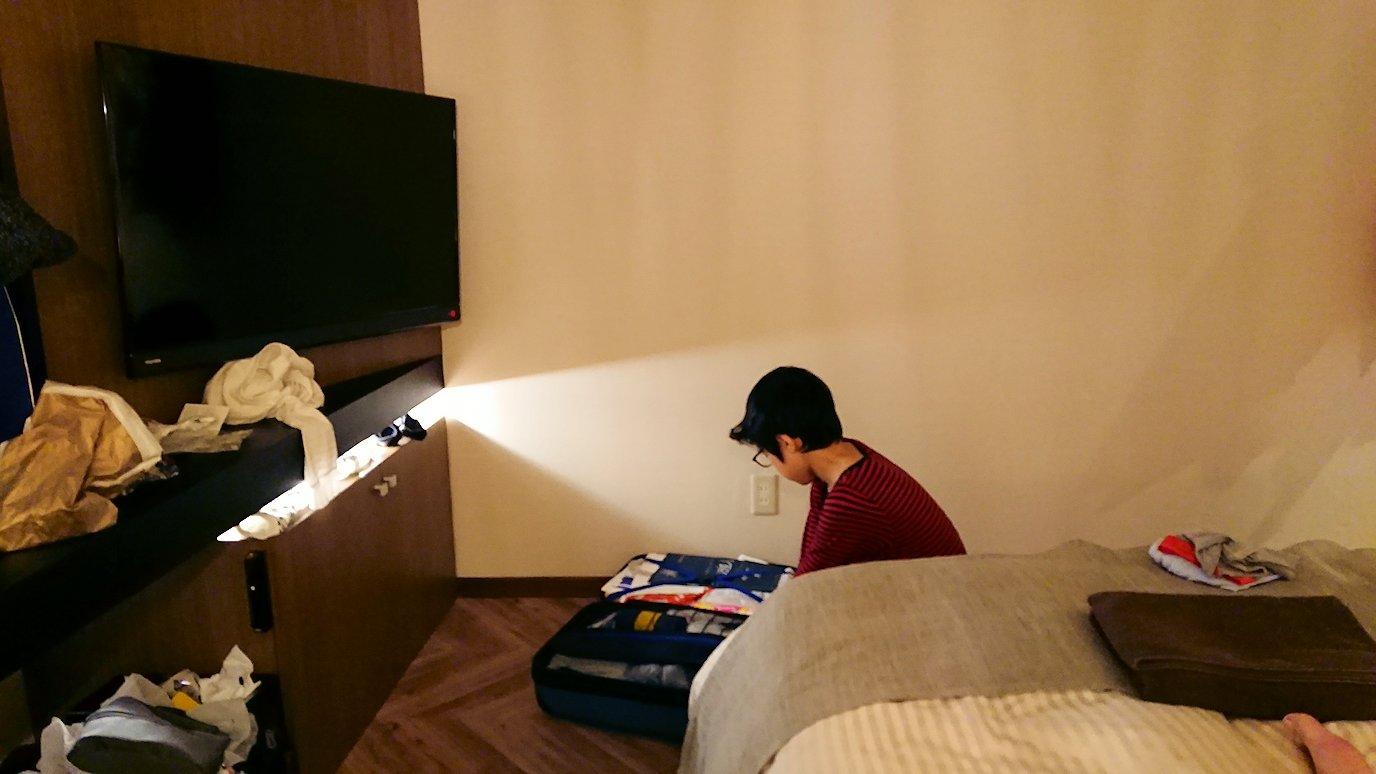 函館市内で函館市内のハセガワストアでやきとり弁当を食べてホテルに戻る5