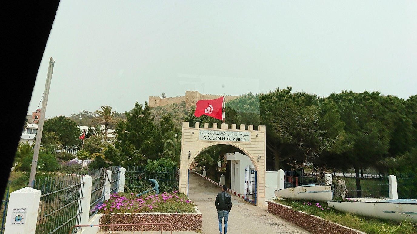 チュニジア:ケリビアの城塞跡に到着