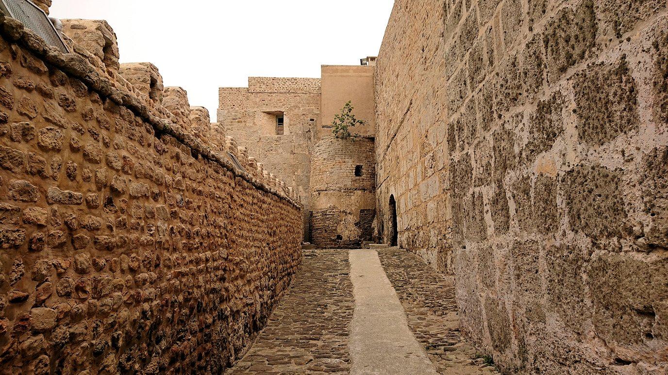 チュニジア:ケリビアの城塞跡に入っていきます2