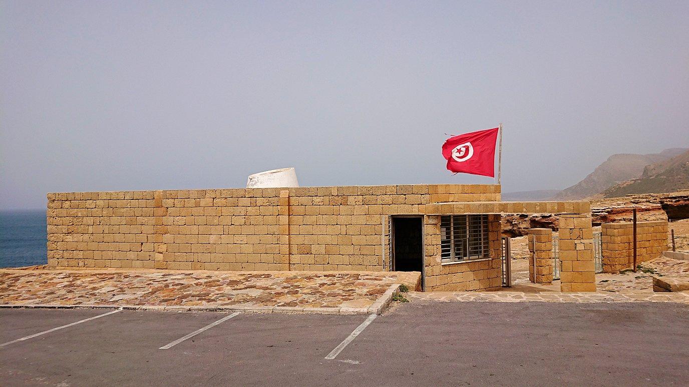 チュニジア:ボン岬のレストランで美味しく昼食を食べる7