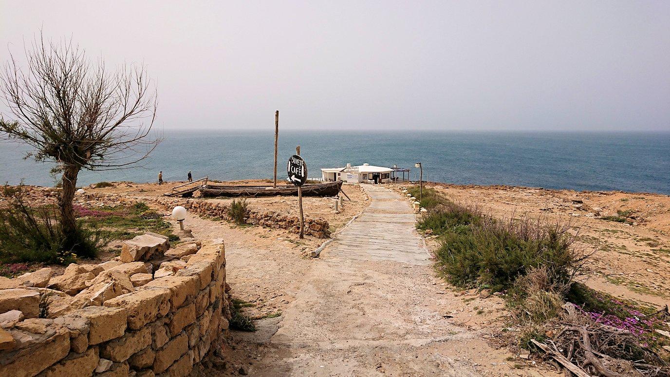 チュニジア:ボン岬のレストランで美味しく昼食を食べる8
