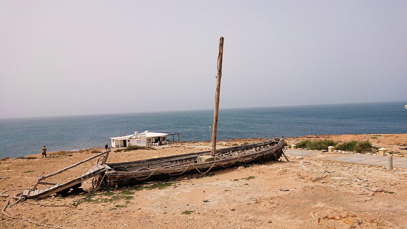 チュニジア:ボン岬のレストラン付近の景色