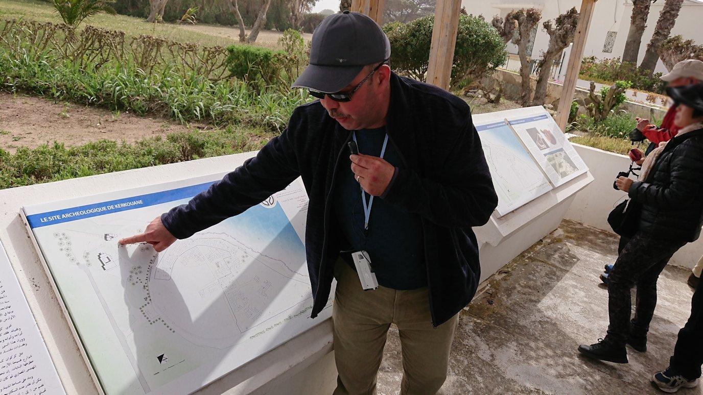 チュニジア:ボン岬のケルクアン遺跡に入場2