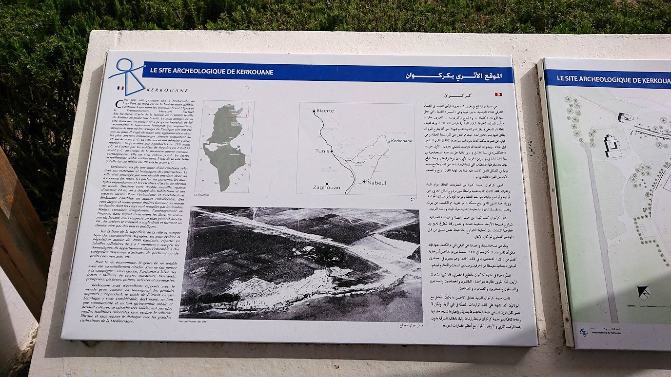 チュニジア:ボン岬のケルクアン遺跡に入場3