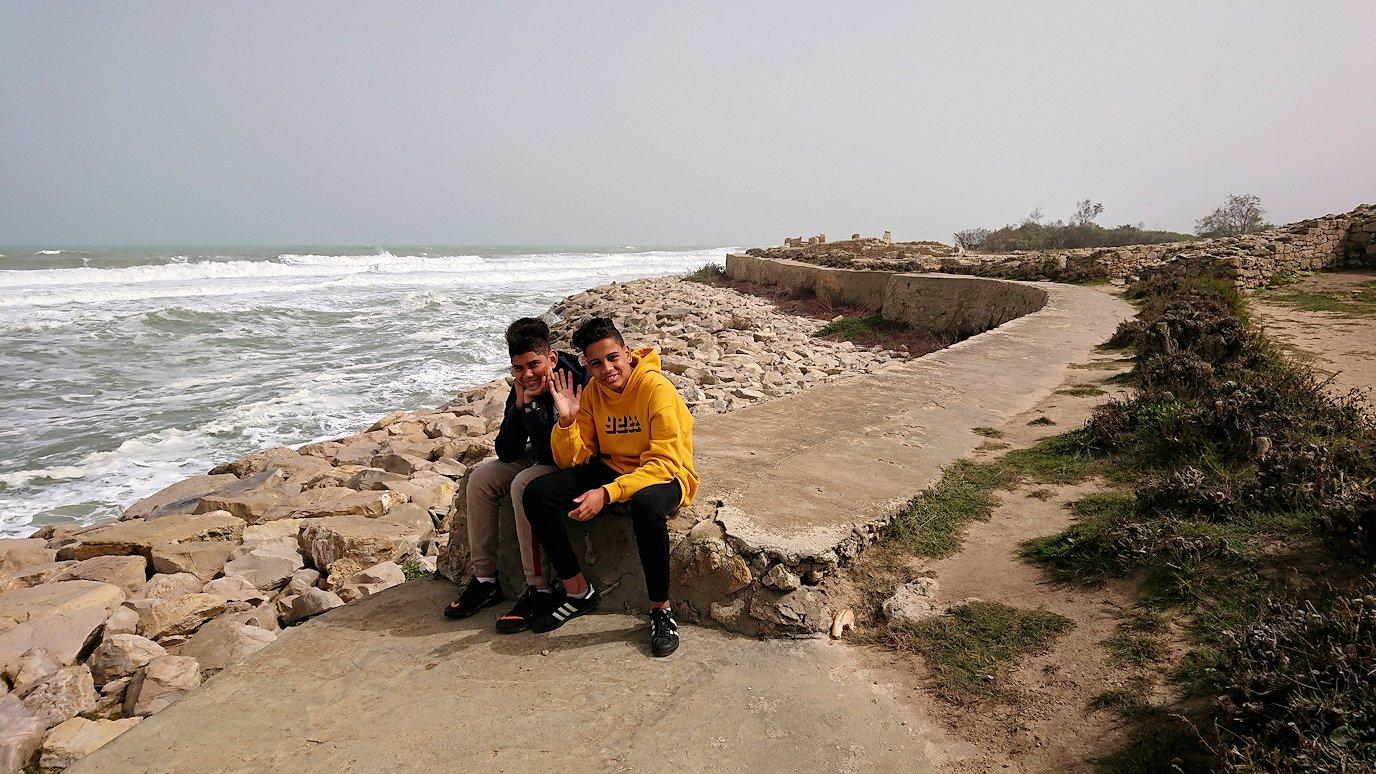 チュニジア:ボン岬のケルクアン遺跡内を進んで行く7