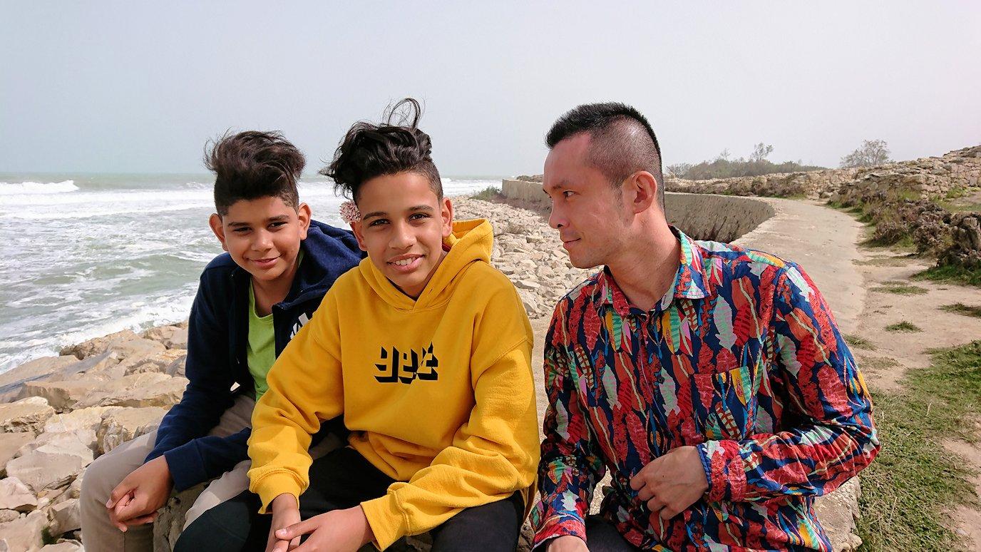 チュニジア:ボン岬のケルクアン遺跡内を進んで行く8