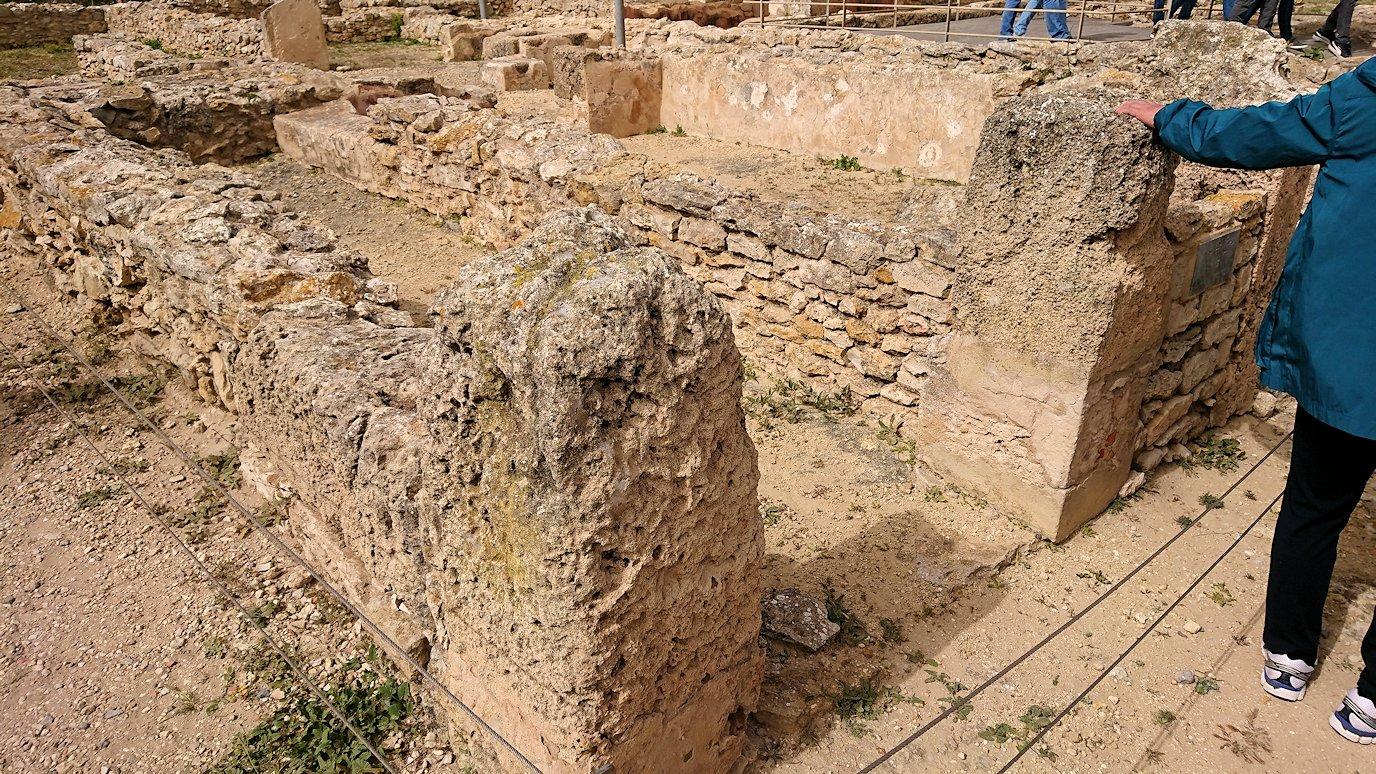 チュニジア:ボン岬のケルクアン遺跡内の説明は続きます