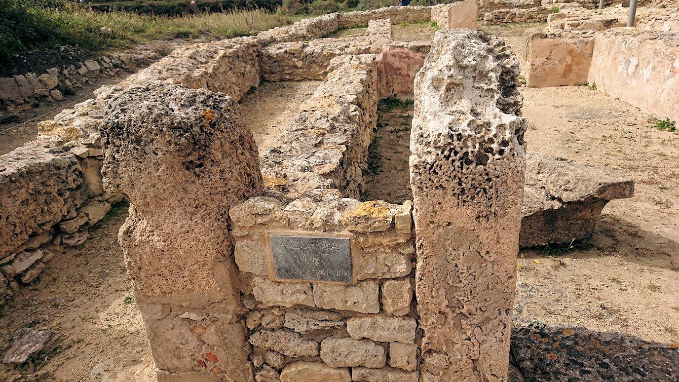 チュニジア:ボン岬のケルクアン遺跡内の説明は続きます2