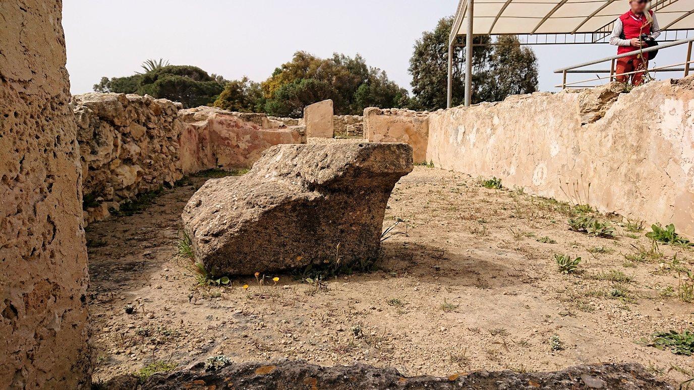 チュニジア:ボン岬のケルクアン遺跡内の説明は続きます6