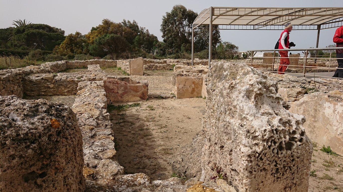 チュニジア:ボン岬のケルクアン遺跡内の説明は続きます7