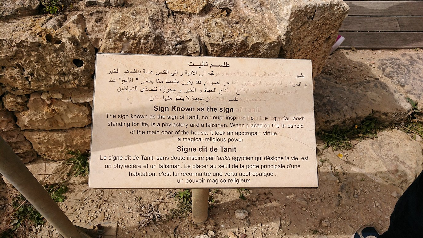 チュニジア:ボン岬のケルクアン遺跡内のタニト神を拝む3
