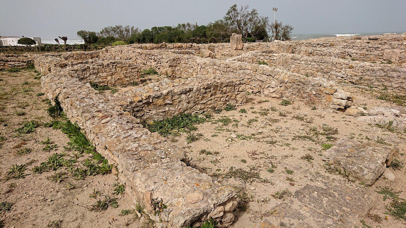 チュニジア:のケルクアン遺跡内の住居部分を見学