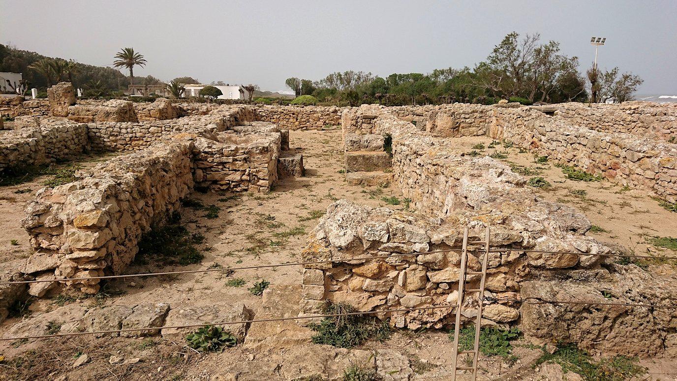 チュニジア:のケルクアン遺跡内の住居部分を見学3