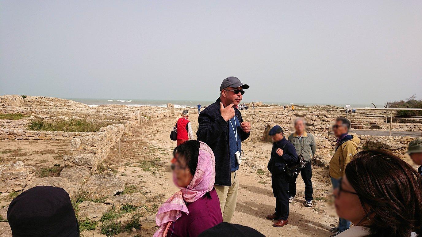 チュニジア:のケルクアン遺跡内の住居部分を見学5