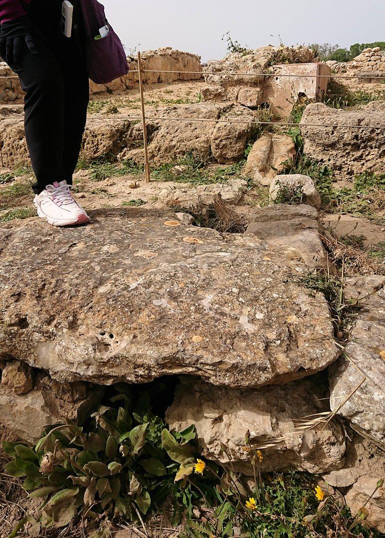 チュニジア:のケルクアン遺跡内の住居部分を見学6