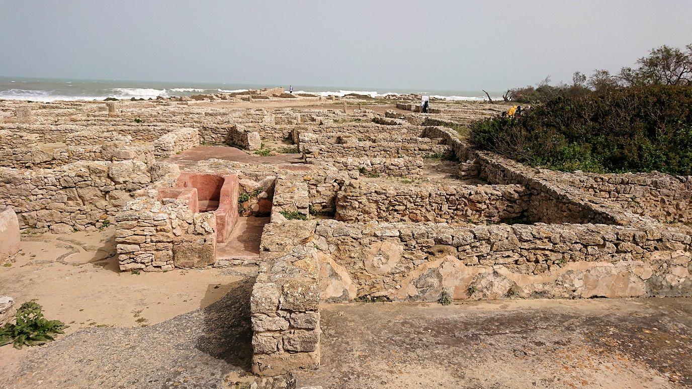 チュニジア:のケルクアン遺跡内の住居部分を見学7