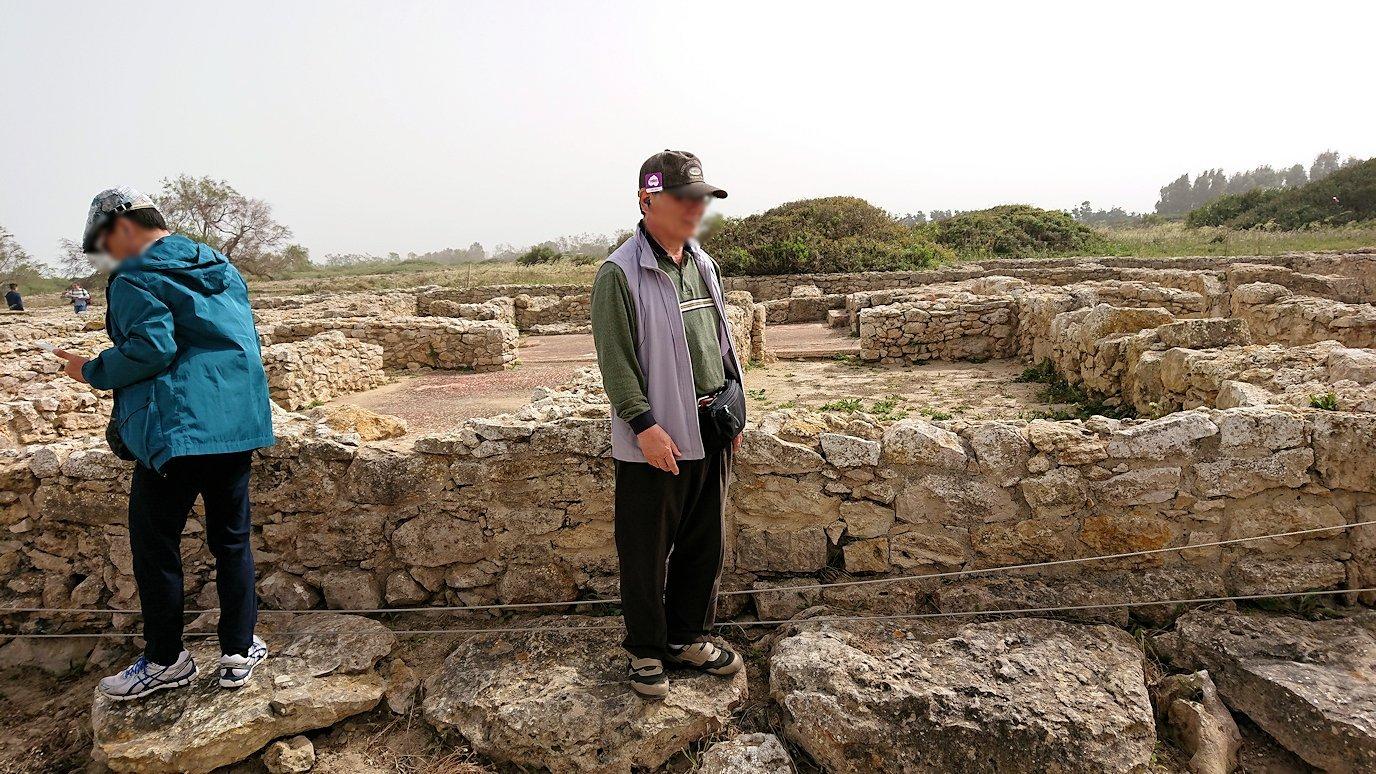 チュニジア:のケルクアン遺跡内の風呂跡を見てみる5