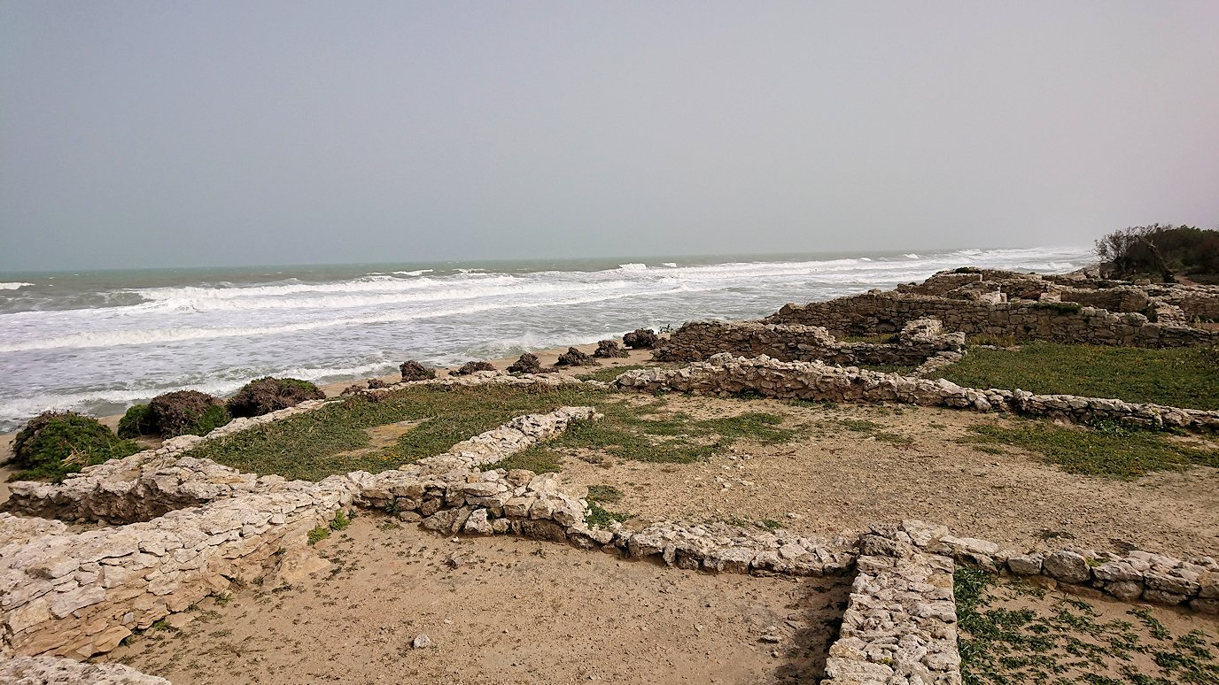 チュニジア:のケルクアン遺跡の海沿いを見学4