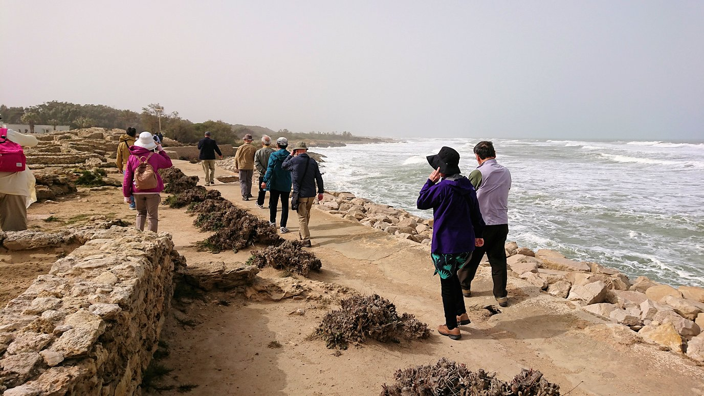 チュニジア:のケルクアン遺跡の海沿いを見学7