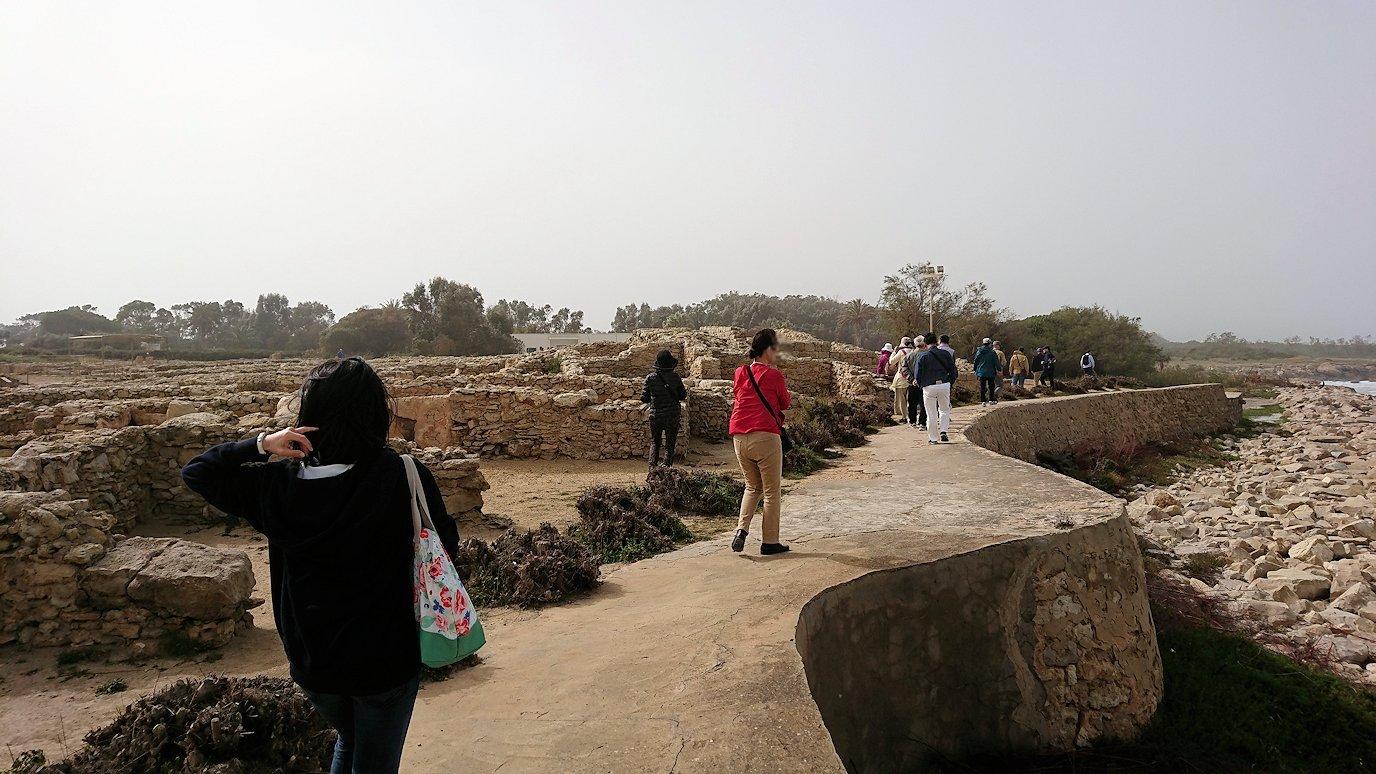 チュニジア:のケルクアン遺跡の海沿いの様子6