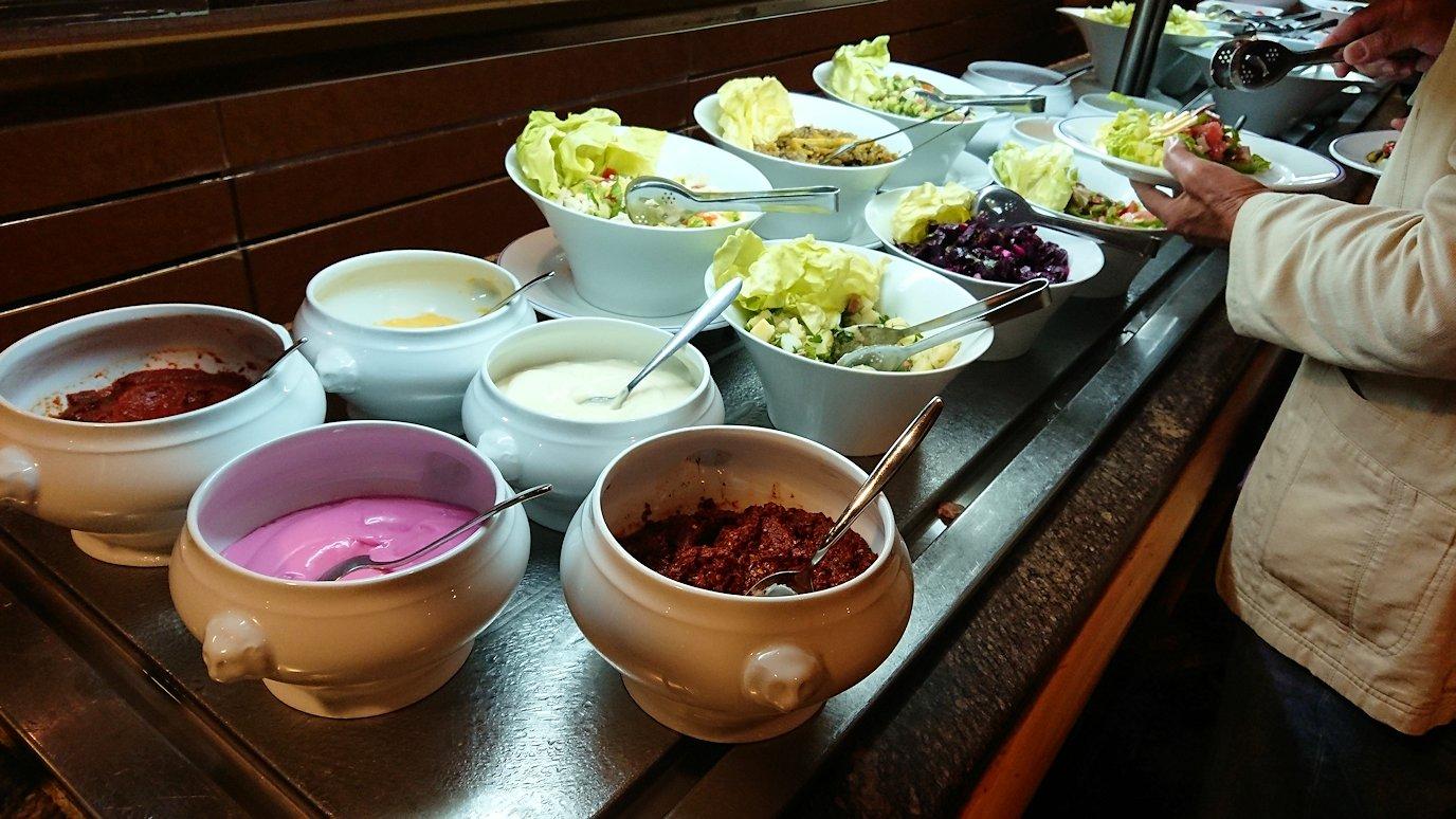 チュニジアのチュニスにあるエルムラディ・アフリカ・ホテルの夕食バイキングの様子1