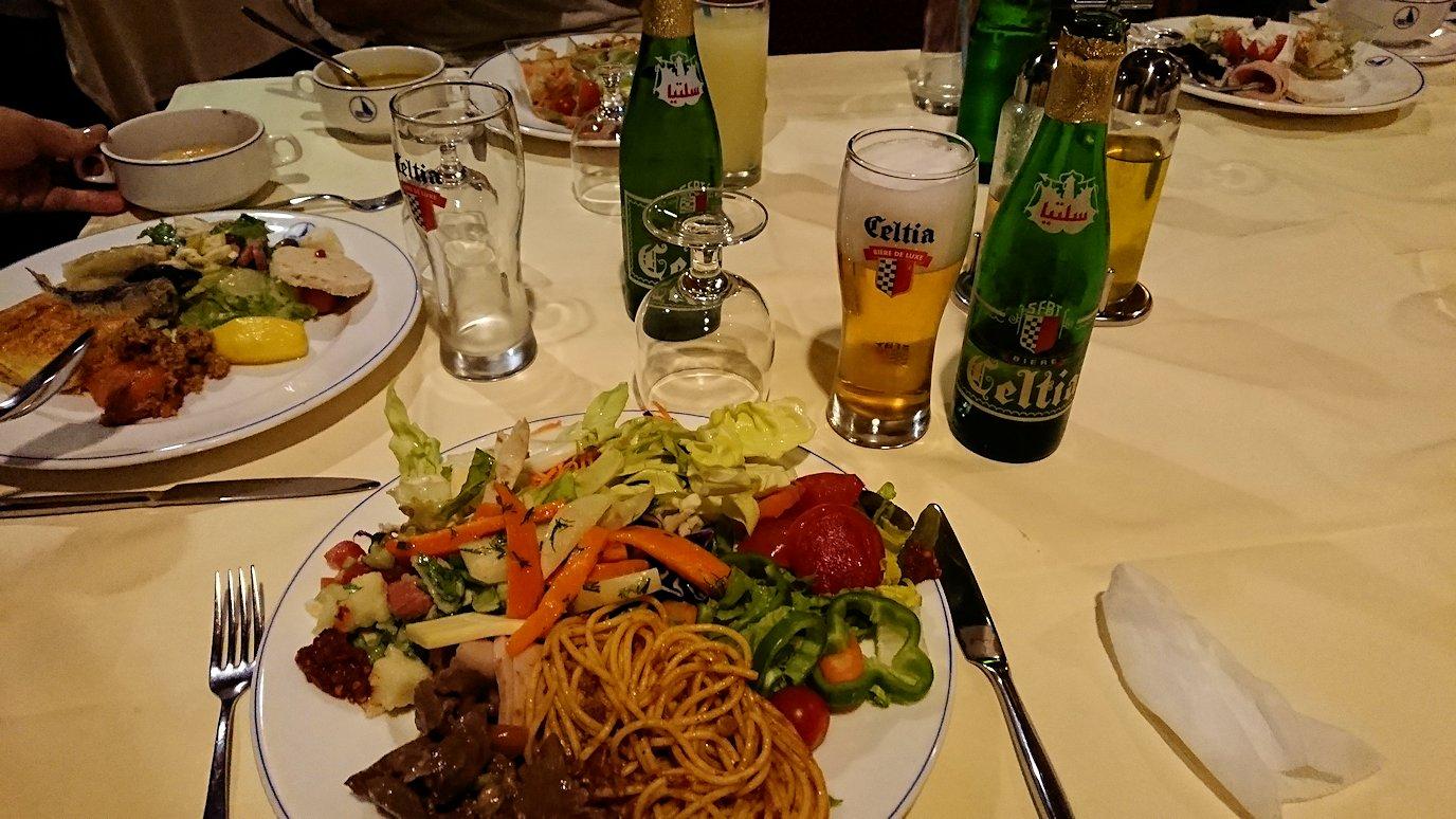 チュニジアのチュニスにあるエルムラディ・アフリカ・ホテルの夕食をいただきます8