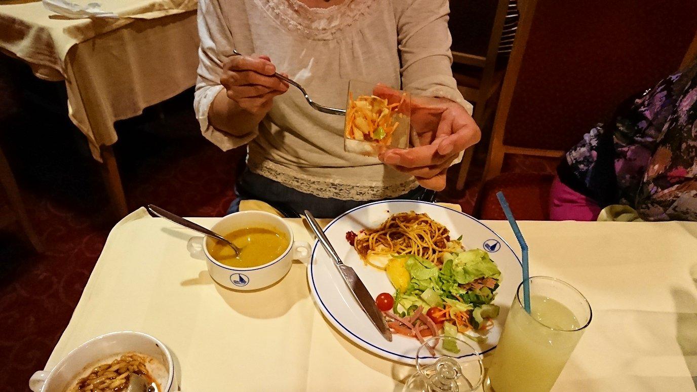 チュニジアのチュニスにあるエルムラディ・アフリカ・ホテルの夕食をいただきます9